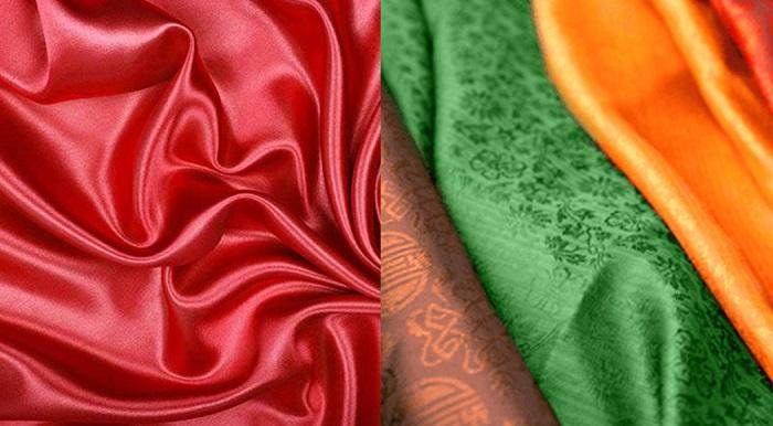 phân biệt vải phi với vải lụa